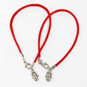 2 Evil Eye Hamsa red string bracelets