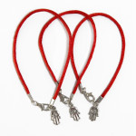 3 Evil Eye Hamsa red string bracelets