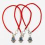 3 Red String Bracelets with Evil Eye Hamsa pendants